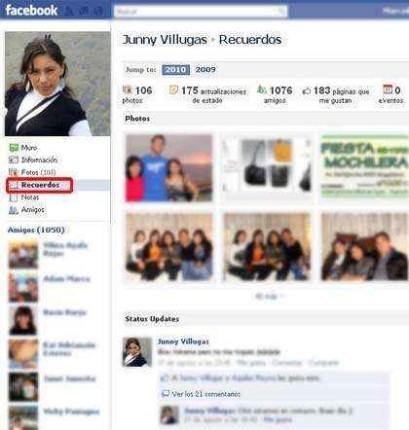 facebook recuerdos