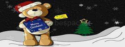fondo oso de navidad
