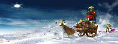 fondo duendes de navidad