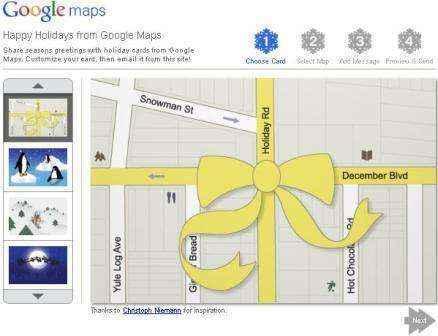 navidad google maps