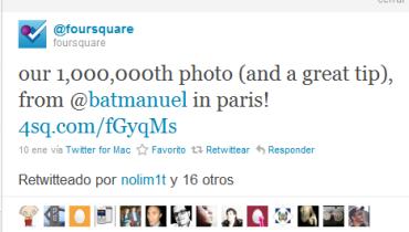 foursquare tweet