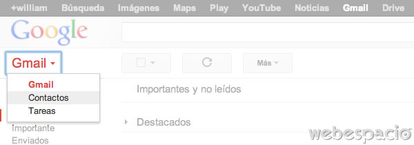ir a contactos gmail