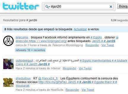 protesta egipto twitter