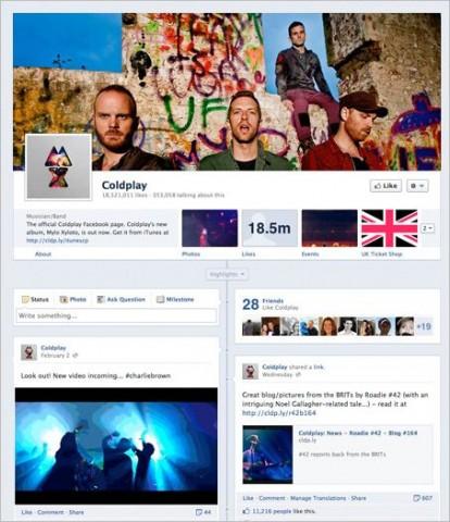 nuevo diseño de las páginas de facebook