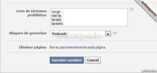 bloqueo groserias en facebook