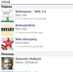 facebook busquedas resultados