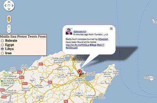 google maps twitter