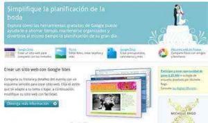 google planificar boda