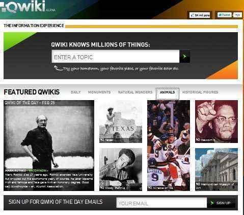qwiki buscador informacion multimedia