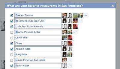 Nueva versión de preguntas de Facebook