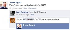 comentarios etiquetas facebook