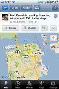 Todos los check-in de Facebook Lugares en un mapa con MeMap