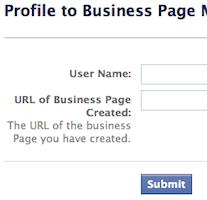 Facebook: revertir migración de perfil a página