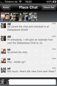 chatear en tiempo real con Daylyplaces