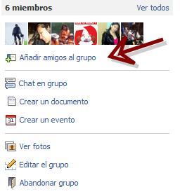 agregar amigos a grupos de facebook