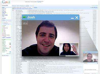 google chat video
