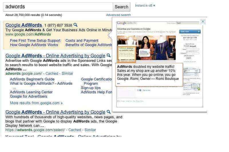 Google lanza vista previa instantánea