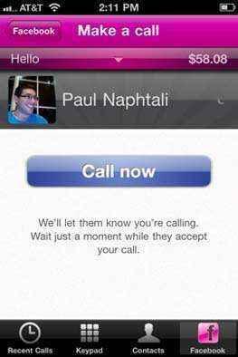 llamar amigos de facebook con facebook calling