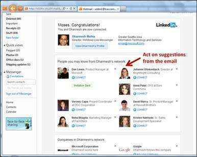 mensajes linkedin interactivos hotmail