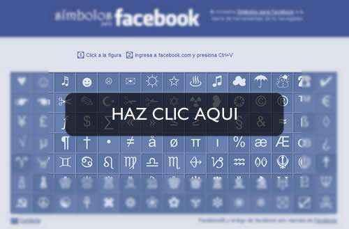 simbolos para facebook