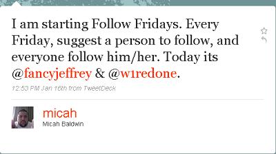 El porque debemos usar #FollowFriday y para que sirve