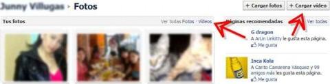 agregar videos a facebook