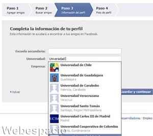 completar perfil facebook redes
