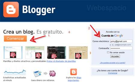 Resultado de imagen para como crear un blog