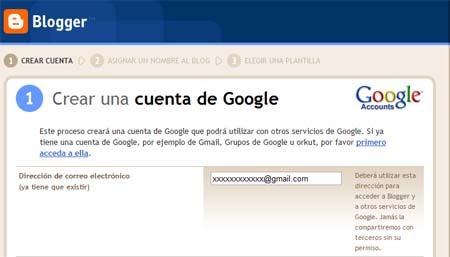 crear cuenta de google