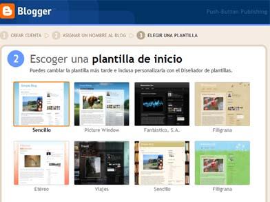 elegir plantilla blog