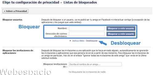 lista de bloqueados en facebook