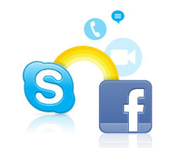 facebook con skype