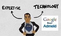 Parte de la web de Admeld con logo de Google incorporado