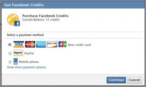 comprar creditos facebook