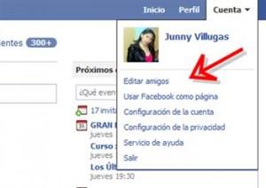 editar amigos de facebook