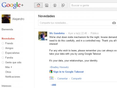 Google red social