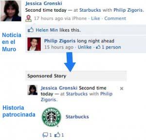 historias patrocinadas  en elmuro de facebook