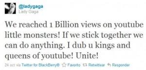 lady gaga agradece a fans en twitter