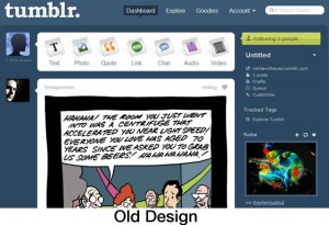 Antiguo diseño de Tumblr