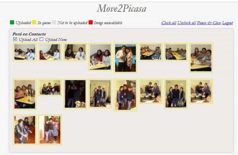 Exportar fotos de facebook a google plus