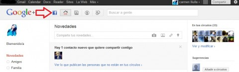 Facebook en Google plus
