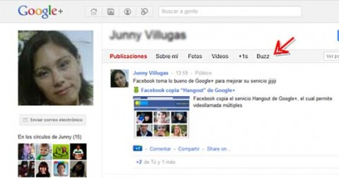 Google Plus Buzz