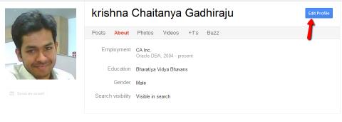 Google plus perfil