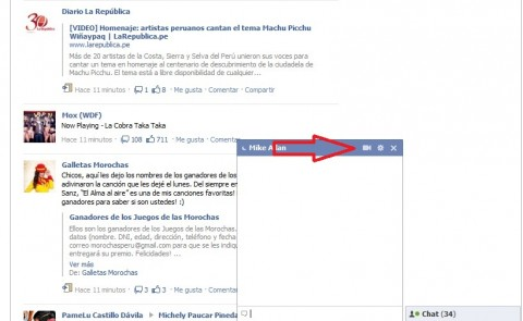 Facebook videollamadas