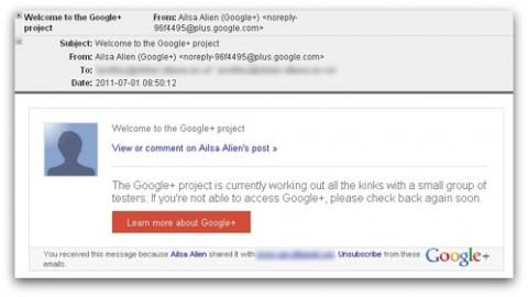 Google plus invitación falsa