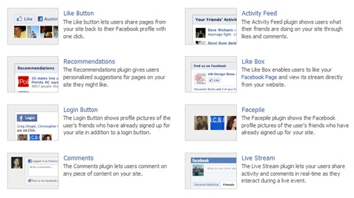 plugins sociales de facebook