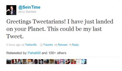 Seinfeld Twitter