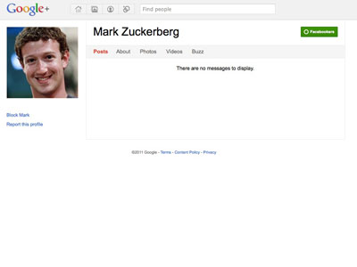 Mark Zuckerberg google plus