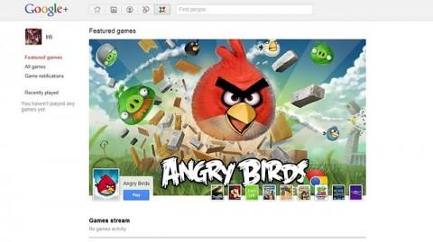 Google plus juegos angry birds
