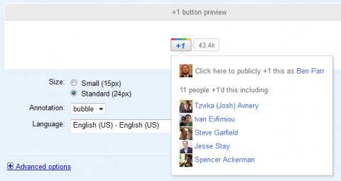 Boton google social